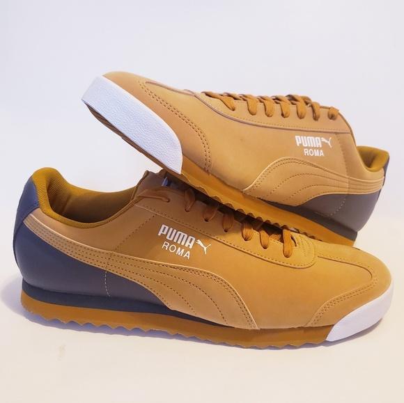 Retirado Devastar Diariamente  Puma Shoes | New Puma Roma Retro Sports Mens Sz 2 Brown Yellow | Poshmark